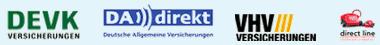 Logos der Autoversicherungen